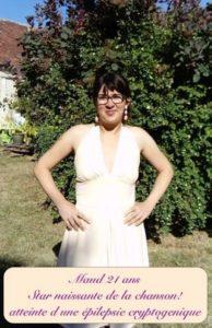 Photo de Maud 23 ans atteinte d'épilepsie cryptogénique