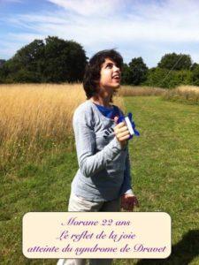 Le reflet de la joie : Photo de Morane 22 ans atteinte du syndrome de Dravet