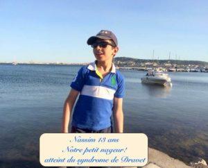 Photo de Nassim 13 ans atteint du syndrome de Dravet - Notre petit nageur